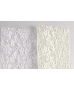Δαντέλα 180 25x25 cm (Λευκό - Εκρού)