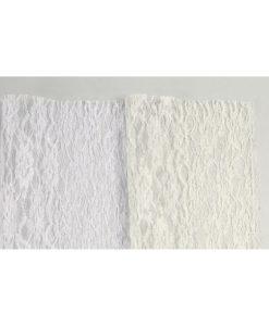 Δαντέλα Λέζα 25x25 cm (Λευκό - Εκρού)