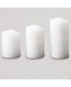 Κερί Γάμου Κύλινδρος με Μύτη (8cm διάμετρος)