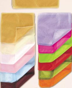 Οργάντζα Κρυστάλ με Μισινέζα 37x37 cm (Σε 12 Χρώματα)