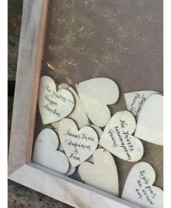 Κάδρο με Plexiglass με Καρδιές για Ευχές
