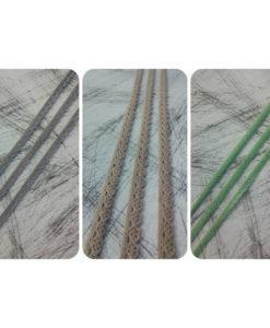 Δαντέλα Βαμβακερή (3 διαφορετικά χρώματα) 8mm