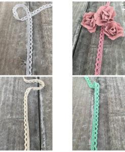 Δαντέλα Βαμβακερή (4 διαφορετικά χρώματα) 1cm