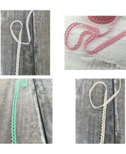 Δαντέλα Βαμβακερή (4 διαφορετικά χρώματα) 8mm