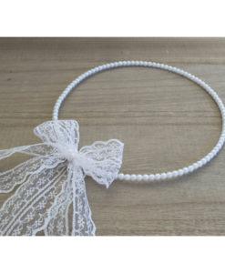 Στέφανα Πέρλες Με Λευκή Δαντέλα 4cm