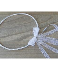 Στέφανα Πέρλες Με Λευκή Δαντέλα 3cm