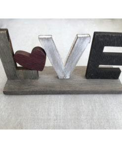 Ξύλινο Love Με Καρδούλα