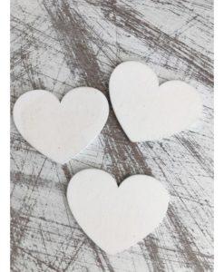 Ξύλινες ευχετήριες καρδιές