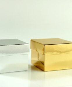 κουτάκι ασημί - χρυσό