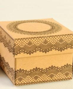 κουτάκι craft με δαντέλα