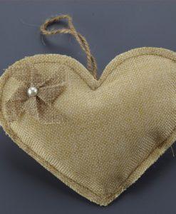Μαξιλαράκι Καμβάς Καρδιά