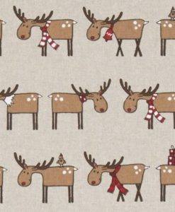 Χριστουγεννιάτικο Ύφασμα Με Τάρανδο