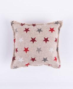 Χριστουγεννιάτικο μαξιλαράκι με αστεράκια