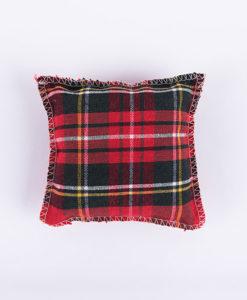 Χριστουγεννιάτικο μαξιλαράκι καρό κόκκινο