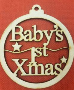 Χριστουγεννιάτικη Μπάλα Baby 1st Christmas