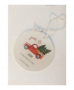 ξύλινο κρεμαστό χριστουγεννιάτικο αυτοκίνητο