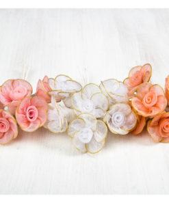λουλούδια ροζ σομών λευκό