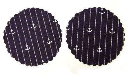 πανάκι ναυτικό με άγκυρες 12cm