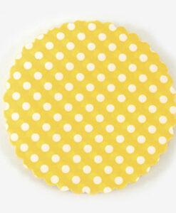 πανάκι κίτρινο πουά