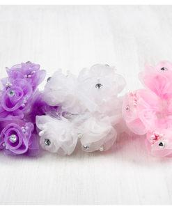 λουλούδι οργάντζα με στρας