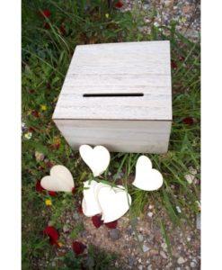 κουτί ευχών ξύλινο