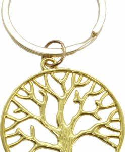 μπρελόκ δέντρο ζωής χρυσό