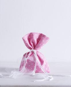 πουγκί ροζ πουά