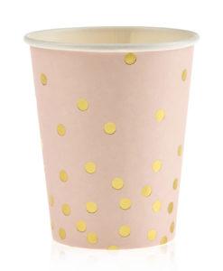 ποτήρι πουά ροζ