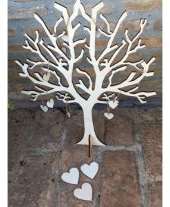 δέντρο για ευχές με καρδιές