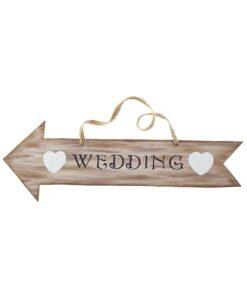 διακοσμητική πινακίδα για γάμο